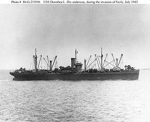 USS Dorothea L. Dix (AP-67) - Image: USS Dorothea L. Dix