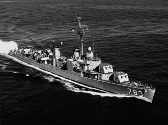 USS Gurke (DD-783) - Image: USS Gurke (DD 783) underway in February 1963 (NH 107160)