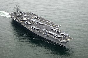 USS Nimitz (CVN-68) at sea near San Diego, CA