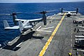 USS Peleliu conducts flight operations. (14785360931).jpg