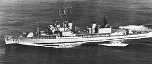 USS Robert H. McCard (DD-822) - Robert H. McCard underway, circa 1978.