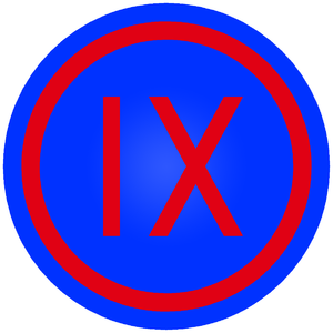 IX Corps (United States) - Shoulder sleeve insignia of IX Corps