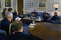 US Navy 031023-N-2383B-082 During an official visit to the United States, Adm. Marcello De Donno, Chief of Staff of the Italian Navy and staff from both countries pay an office call to Adm. Vern Clark, Chief of Naval Operations.jpg