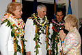 US Navy 050226-N-5640H-119 Adm. William J. Fallon, center, Mrs. Fallon, left, and Adm. Thomas B. Fargo greet guest at the reception which immediately followed the U.S. Pacific Command (PACOM) change of command.jpg