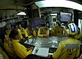 US Navy 061113-N-4053P-115 Aircraft directors listen to the flight plan for the day and go over all safety precautions during the U.S. and Japanese Maritime Self-Defense Force (JMSDF) exercise ANNUALEX aboard USS Kitty Hawk (CV.jpg