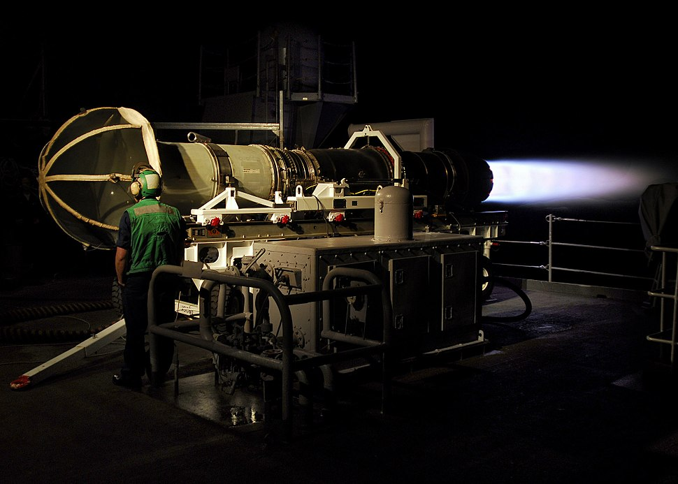 US Navy 070804-N-1745W-122 A Sailor assigned to Aircraft Intermediate Maintenance Department (AIMD) tests an aircraft jet engine for defects while performing Jet Engine Test Instrumentation, (JETI) Certification-Engine Runs