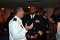 US Navy 080102-N-5307M-053 Commodore Frank Ponds of the Kearsarge Strike Group, converses with Rear Adm. Ram Rutberg, commander, Haifa Naval Base.jpg