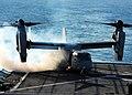US Navy 090309-N-3165S-075 An MV-22 Osprey begins its take-off procedures aboard the amphibious dock-landing ship USS Fort McHenry (LSD 43).jpg