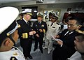 US Navy 090420-N-8273J-105 Chief of Naval Operations (CNO) Adm. Gary Roughead, receives a tour of the berthing spaces aboard the People's Liberation Army Navy Destroyer Luyang 2 while visiting with senior PLA naval leadership i.jpg