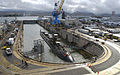 US Navy 090618-N-0676F-003 he Los Angeles-class attack submarine USS Buffalo (SSN 715) undocks from Dry Dock 2 at Pearl Harbor Naval Shipyard.jpg
