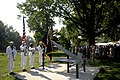 US Navy 100810-N-9818V-019 The U.S. Navy Ceremonial Guard presents the colors at the Armed Forces Retirement Home during a dedication ceremony for an anchor.jpg