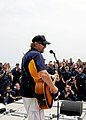US Navy 110424-N-BZ392-594 Country music entertainer Toby Keith performs an Easter USO concert aboard the guided-missile cruiser USS Leyte Gulf (CG.jpg