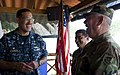 US Navy 110617-N-RM525-113 Commodore Brian Nickerson, mission commander of Continuing Promise 2011, meets with Major Gen. Denis Membreno Rivas, the.jpg