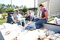 US Navy 110831-N-UT935-575 Civilians and Sailors assigned to the John C. Stennis Space Center load nearly a ton of food.jpg