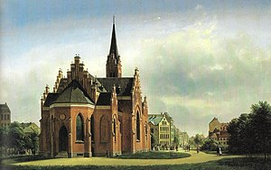 St. John's Church, Copenhagen - St. John's Church painted by Gerdinand Richardt in 1869
