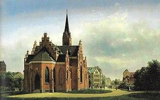 St. John's Church, Copenhagen - St. John's Church painted by Gerdinand Richardt in 1869