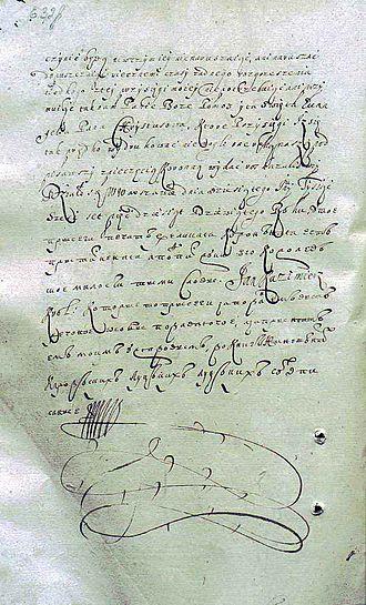 Treaty of Hadiach - Oath of Polish king John II Casimir on the treaty of Hadiach, 10 June 1659.