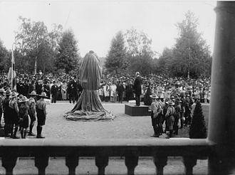 Umeå Town Hall - Gustav II Adolf bust was unveiled by crown prince Gustaf Adolf.