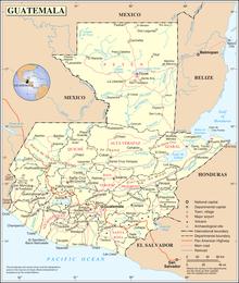 Guatemala Wikipedia - Guatamala map