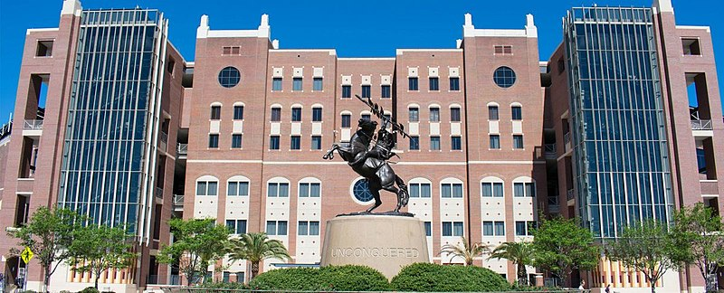 File:Unconquered Statue and south entrance of Doak Campbell Stadium.jpg
