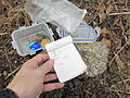 Unpacked geocache near Klučov, Třebíč District.JPG