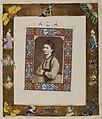 Untitled (portrait of a woman, decorative motifs in border) (7096851375).jpg