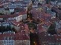 Výhled z žižkovské věže, směr Škroupovo náměstí.jpg