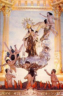 Vergine Maria del Monte Carmelo e anime nel purgatorio, Beniaján, Spagna