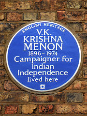 Blue plaque erected in 2013 by English Heritage at 30 Langdon Park Road, Highgate, London N6 5QG, London Borough of Haringey