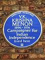 V.K. KRISHNA MENON 1896-1974 Campaigner for Indian Independence lived here.jpg