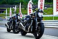 VMAX day 2009 two bikes and flags.jpg