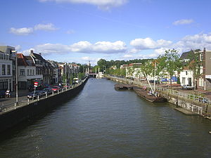 Vaartse Rijn - The Vaartse Rijn in Utrecht, looking in the direction of the city centre