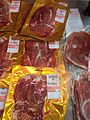 Vacuum packed slices of Carmarthen Ham.jpg