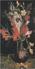 Vase with Red Gladioli