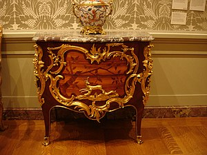 Bernard II van Risamburgh - One of a pair of commodes by BVRB, c1750 (J. Paul Getty Museum)