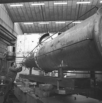 Gargamelle - The magnetic horn of Simon van der Meer used in the neutrino beam line to Gargamelle.