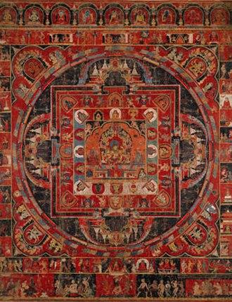 Newa art - Vasudhara Mandala, by Jasaraja Jirili, Nepal, dated 1365.