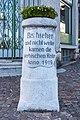 Velden Karawankenplatz 3 Grenzstein errichtet von Anton Bulfon 21102019 7339.jpg