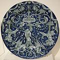 Venezia maiolica, piatto con grottesche, 1540-60 circa.JPG