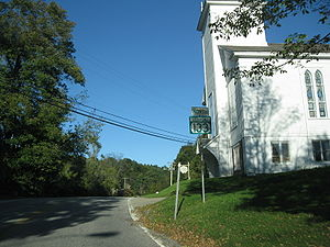 Vermont Route 133 heading northward through Pawlet