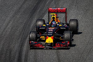Max Verstappen - Verstappen celebrating victory at the 2016 Spanish Grand Prix, in his first race for the Red Bull Racing team