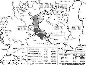 Recovered Territories - US Department of State demographics map from 10 January 1945 Germany – Poland Proposed Territorial Changes