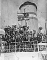 Vertrek contingent padvinders van Rotterdam met Groote Beer naar Jamboree in Can, Bestanddeelnr 907-2706.jpg