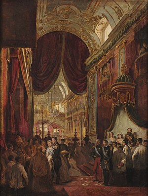 Old Cathedral of Rio de Janeiro - Marriage of Isabel, Princess Imperial of Brazil and Prince Gaston, Count of Eu, c. 1864. Painting by Victor Meirelles