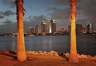 Coronado, California - A view of San Diego from Coronado