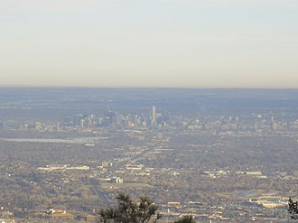 Lookout Mountain (Colorado) - View of Downtown Denver From Top of Lookout Mountain, CO