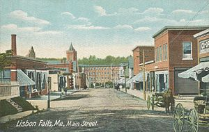 Lisbon Falls, Maine - Main Street in 1905