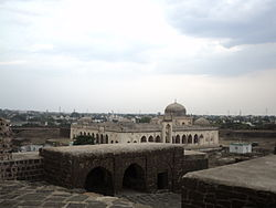 View of Masjid from top of fort.JPG