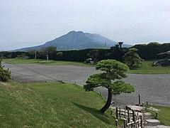 View of Sakurajima from Sengan-en 1.jpg
