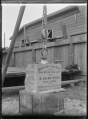 View of the Foundation Stone for the Petone Baptist Church, laid 2nd May 1903. ATLIB 273317.png